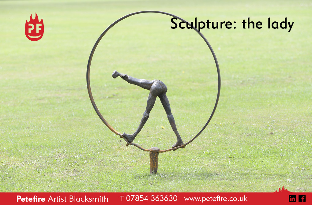 Sculpture for client in south west Herts, title: The Lady