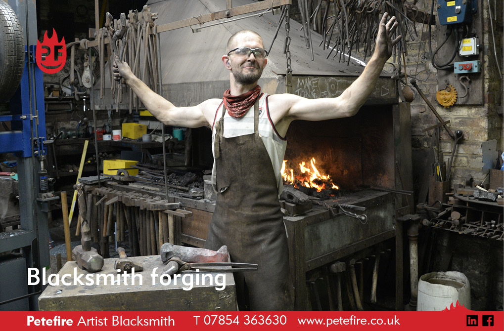 Petefire Artist Blacksmith. Forging in Bushey, Herts. Contact peter@petefire.co.uk