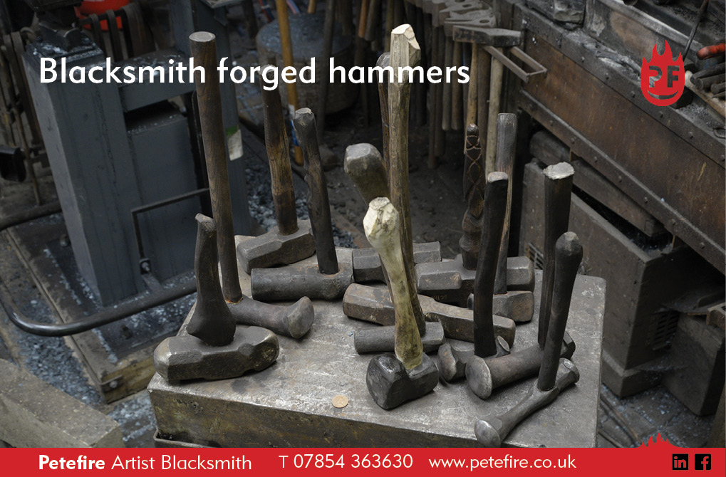 Petefire Artist Blacksmith, blacksmith forged hammers