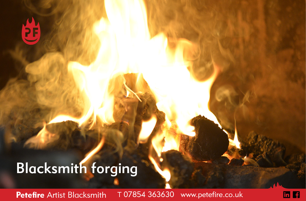 Blacksmith Forging Experience, Petefire Artist Blacksmith, Watford, Herts