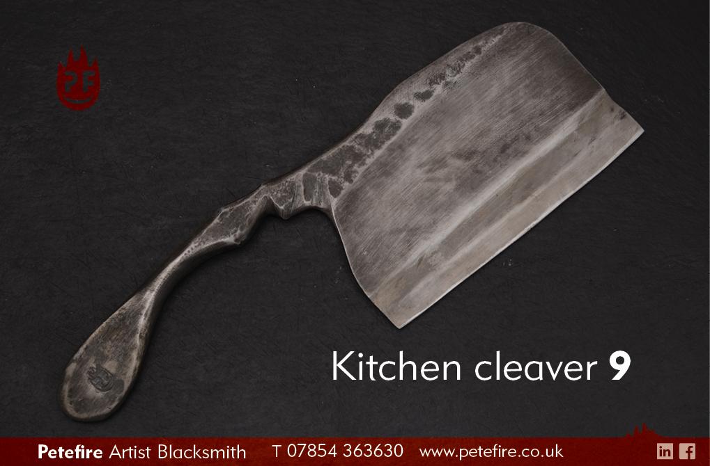Petefire Artist Blacksmith kitchen cleaver