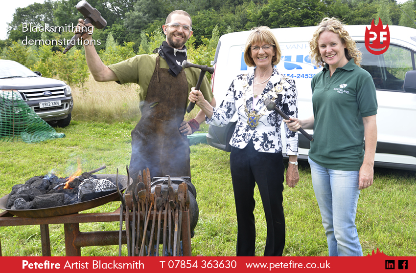 Blacksmithing demonstration at Heartwood, St Albans with the Woodland Trust