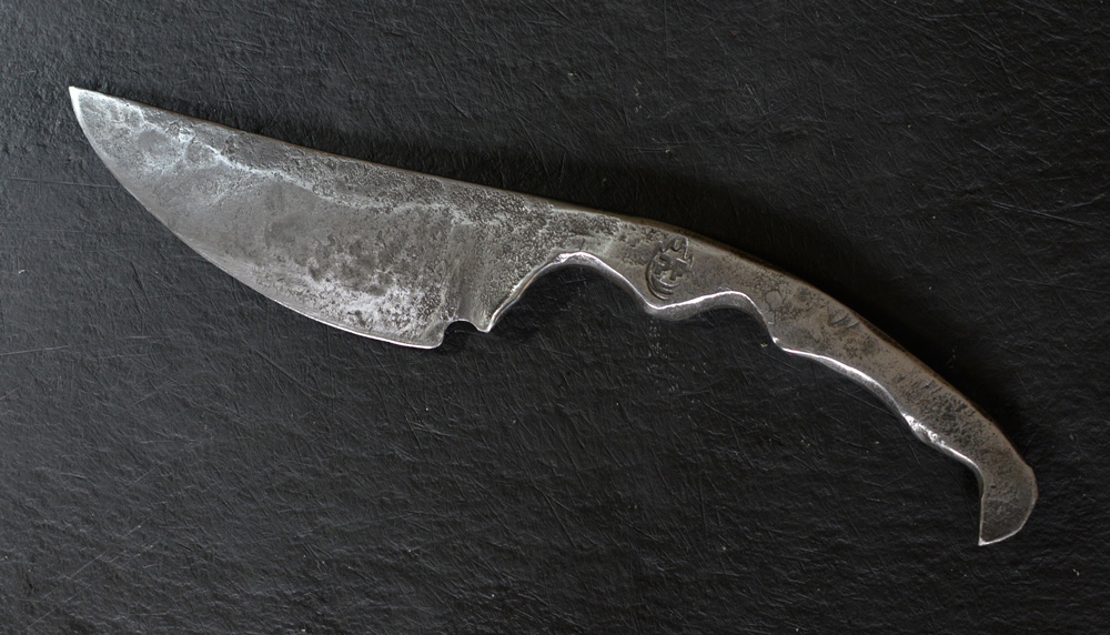 Papa kitchen knife, blacksmith hand forged