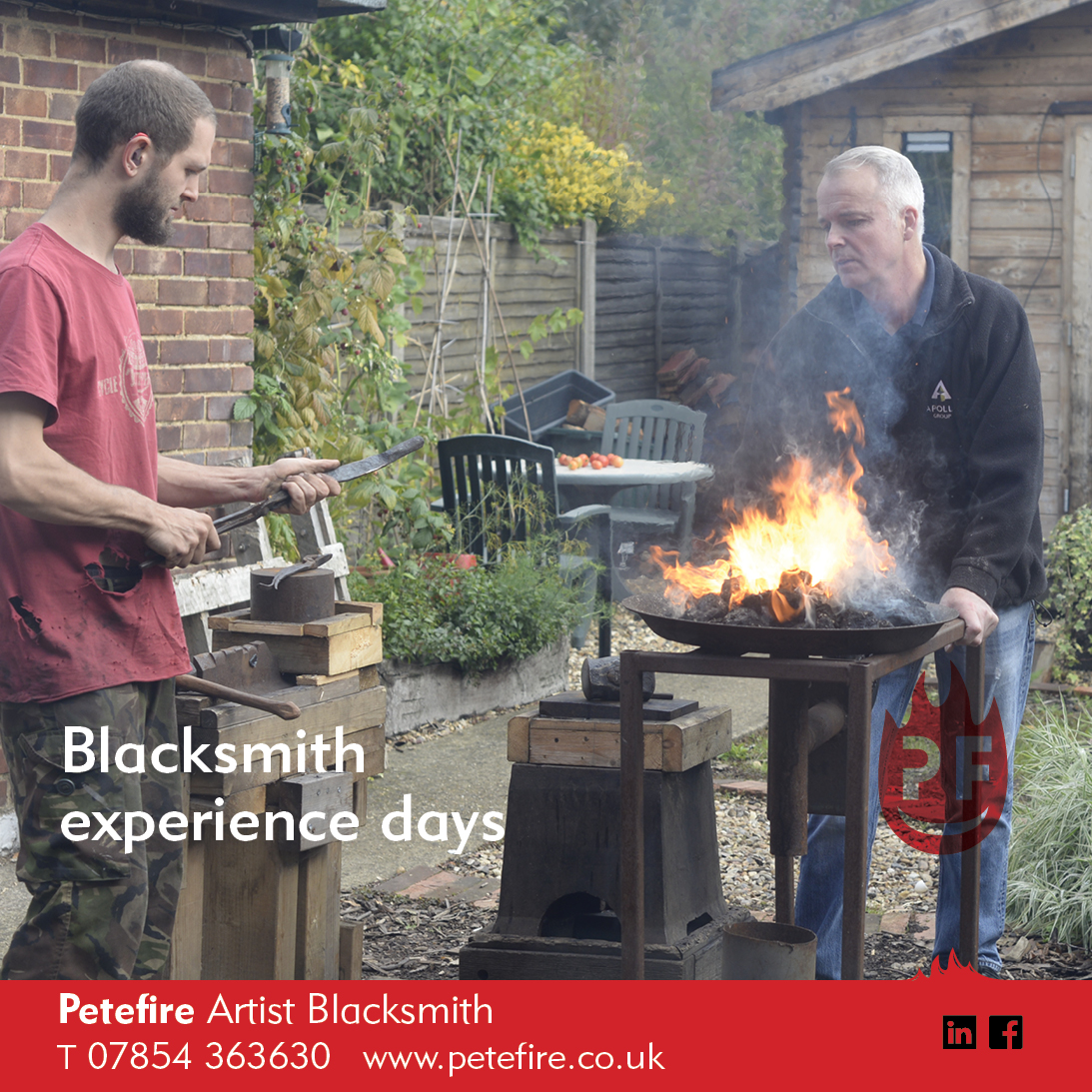 Petefire Artist Blacksmith, Experience Days