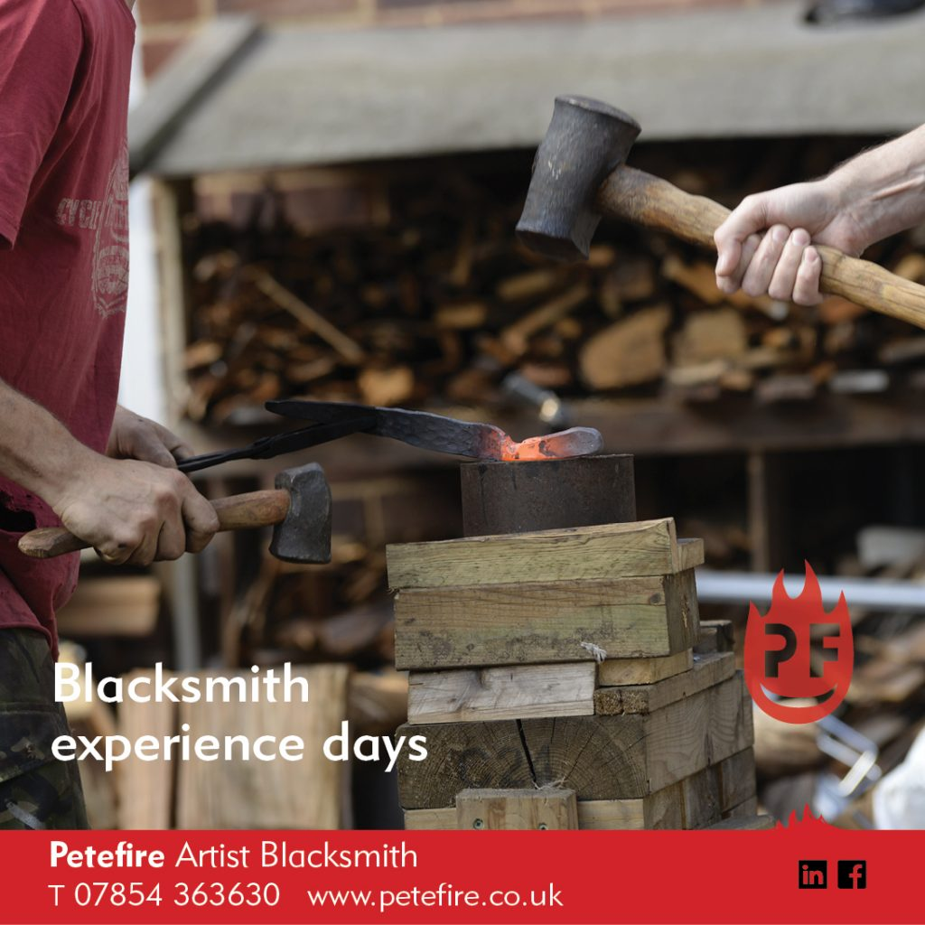 Petefire Artist Blacksmith, Experience Days – for Forged in Fire UK fans