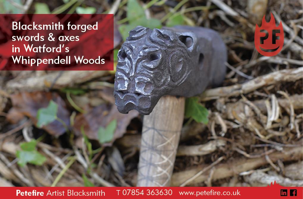 Blacksmith forged hammer, Whippendell Woods, Watford