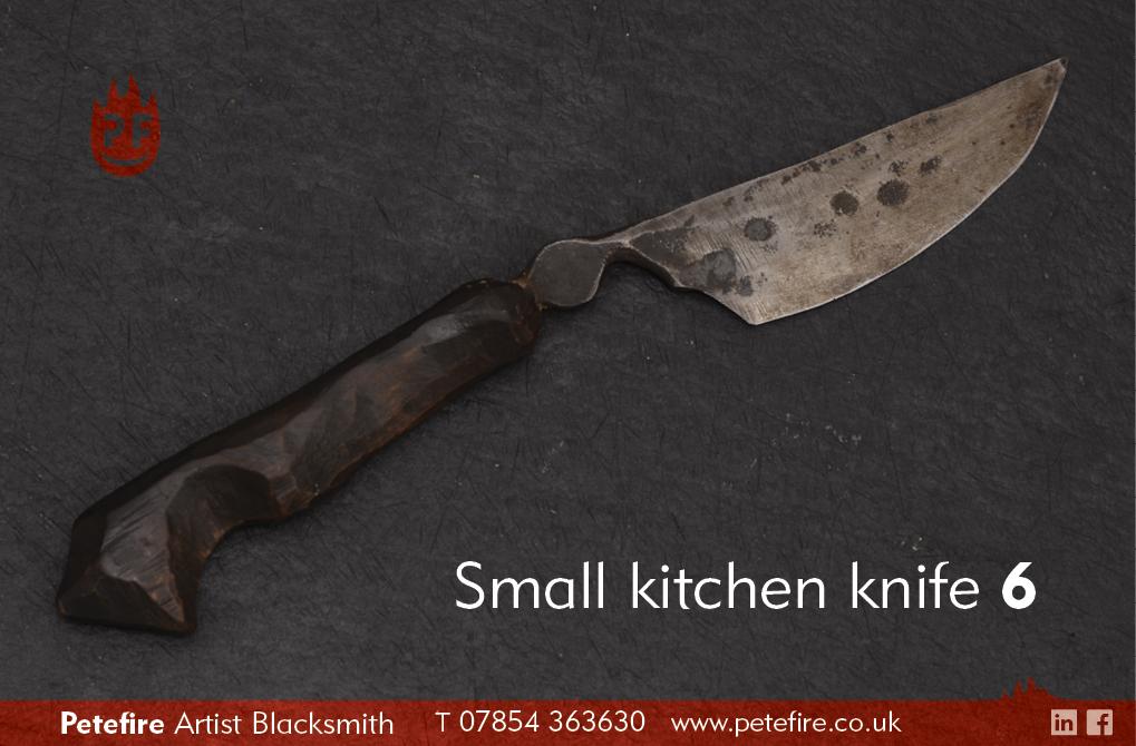 Petefire Artist Blacksmith small kitchen knife 6