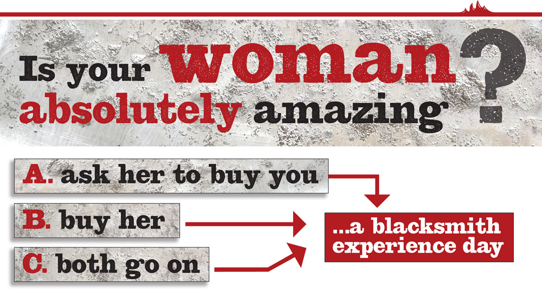 Blacksmith forging experience – Is your woman absolutely amazing?