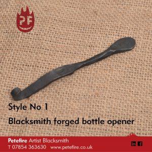 Petefire Artist Blacksmith forged bottle opener