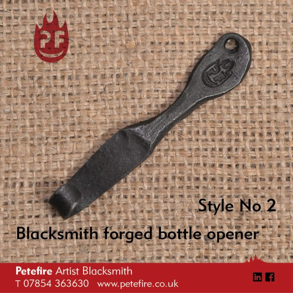 Petefire Artist Blacksmith forged bottle opener