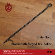 Petefire Artist Blacksmith forged fire poker