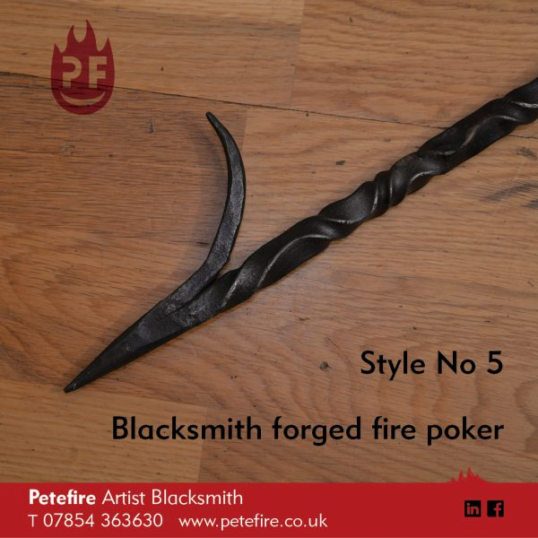Petefire Artist Blacksmith forged fire pokers