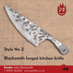 Petefire Artist Blacksmith forged kitchen knife