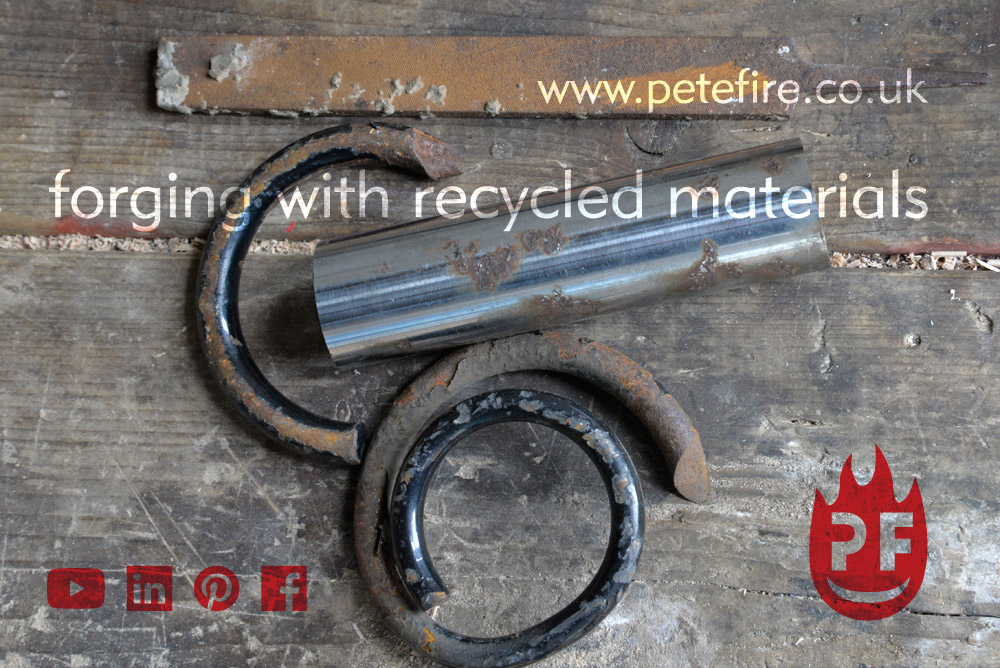Petefire Artist Blacksmith-forging with recycled materials