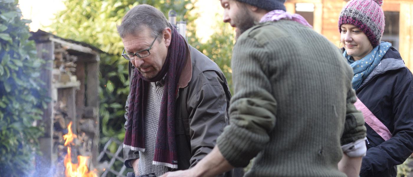 Petefire blacksmith forging experience, Abbots Langley, Watford, Herts