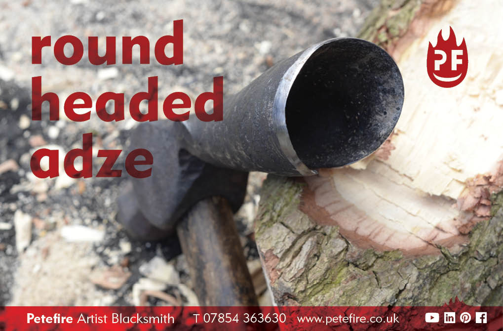 Petefire Artist Blacksmith - blacksmith forged round headed adze