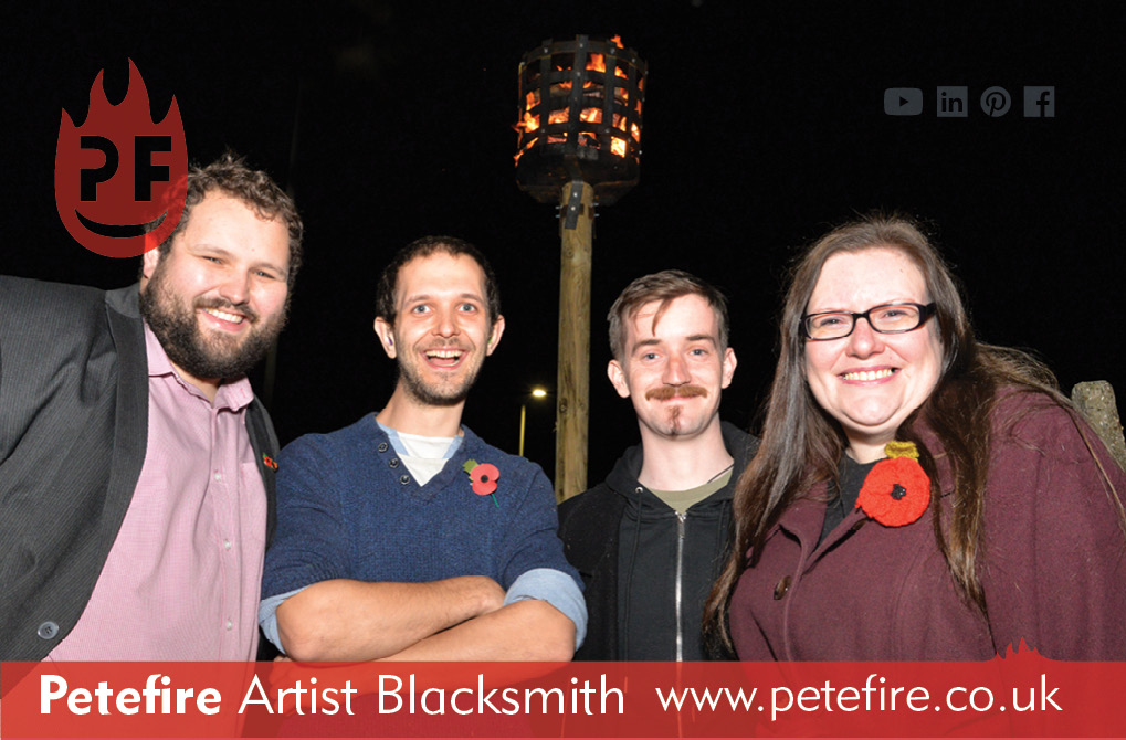 Petefire Artist Blacksmith, Watford 100th Anniversary beacon