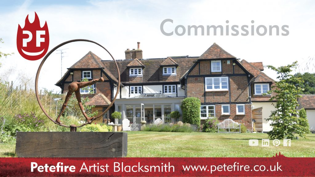 Petefire Artist Blacksmith – The Lady, blacksmith forged sculpture