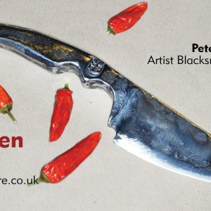 Papa hand forged kitchen knife, made in Watford, Herts