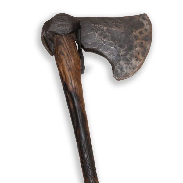 Petefire Artist Blacksmith hand forged axe head