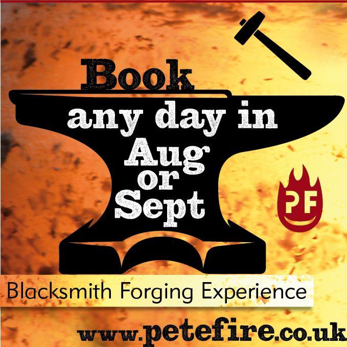 Petefire Artist Blacksmith Forging experience days