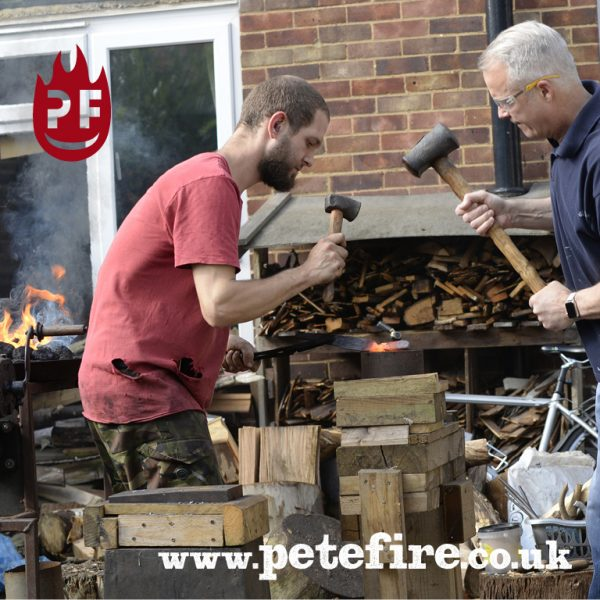 Petefire Artist Blacksmith, Experience Days – Forged in Fire UK