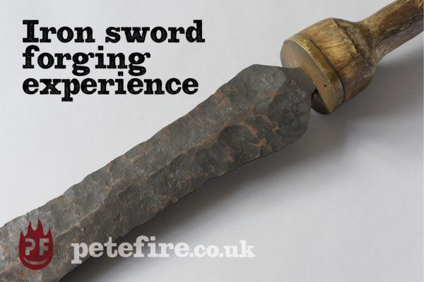 Iron Sword Forging Experience – Petefire Artist Blacksmith, St Albans, near London